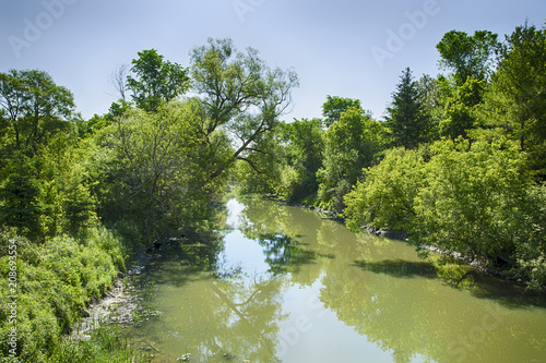 Foto op Plexiglas Rivier Holland river in the summer park, Ontario, Canada