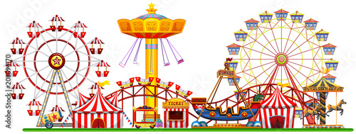 Photo A Panorama of Fun Fair