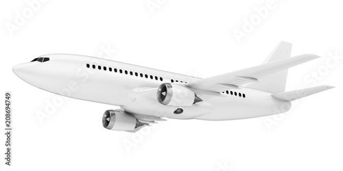 Photo White Airplane Isolated