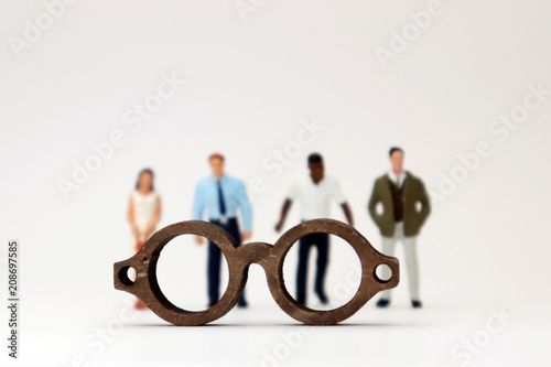 The concept of biased views judged by appearances Wallpaper Mural