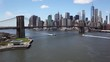 Lower Manhattan With Brooklyn Bridge