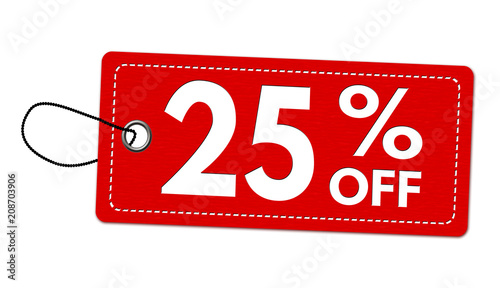 Fotografia  Special offer 25% off label or price tag