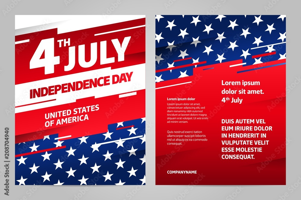 Fototapeta Happy independence day 4 th july, United states of america day. USA