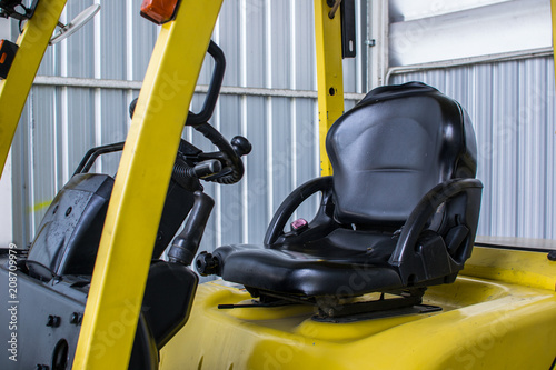 Photo The seat of the forklift