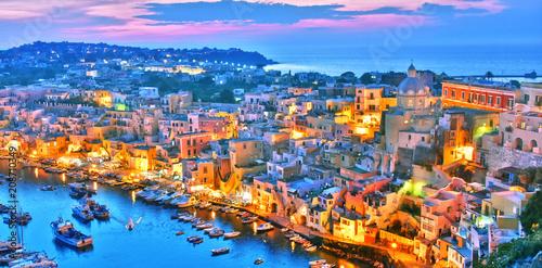 Foto auf AluDibond Neapel Architecture of Procida Island, Campania, Italy