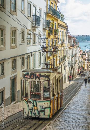 Plakat Tramwaj z Lizbony, Portugalia