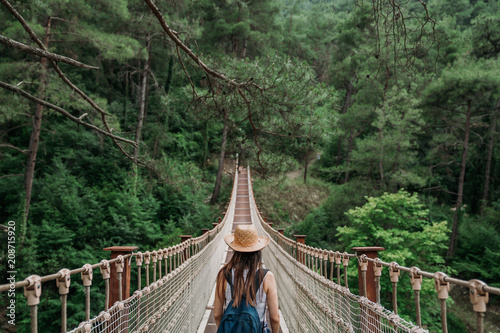 фотографія  Happy travel woman on vacation concept