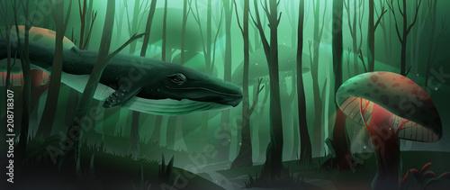 Whale in Jungle