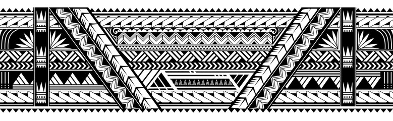 Maori style armband tattoo shape