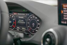 Dashboard Of Modern Car Speedo...