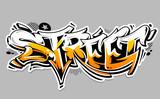 Fototapeta Młodzieżowe - Street Graffiti Vector Lettering