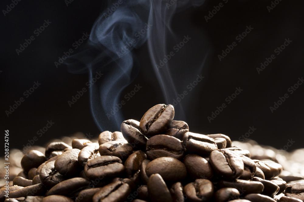 Fototapety, obrazy: コーヒー豆の焙煎