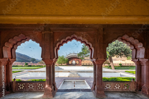 Papiers peints Fortification Amer Fort in Jaipur, Rajasthan, India. UNESCO world heritage.