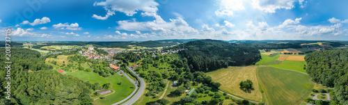 Obraz Luftbildpanorama Odenwald - fototapety do salonu