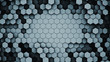 canvas print picture Dark hexagonal cells abstract 3D rendering