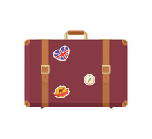 Leather Vintage Suitcase With ...
