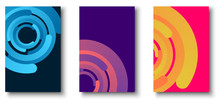 Colorful Backgrounds With Bright Circles Pattern.