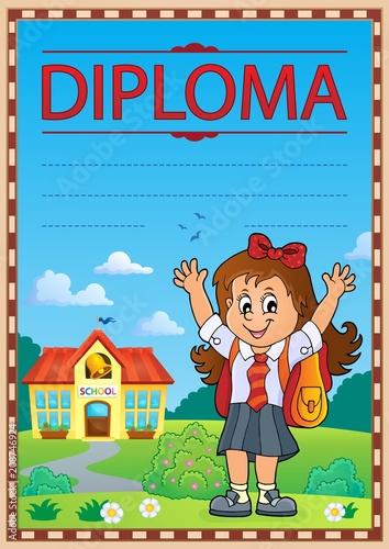 Deurstickers Voor kinderen Diploma template image 7