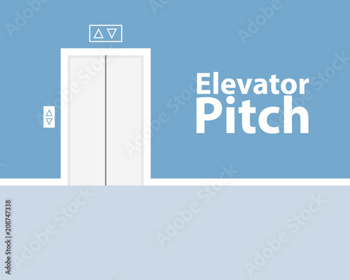 Photo Elevator pitch poster design. Clipart image