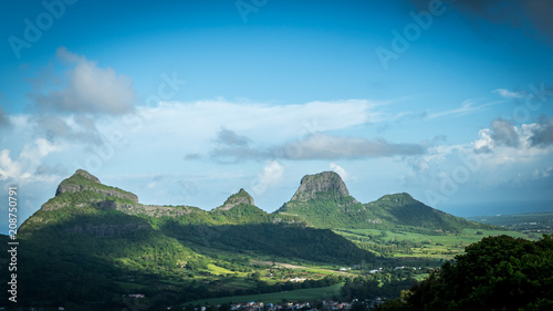 Spoed Foto op Canvas Pool Viewpoint on Mauritius insland