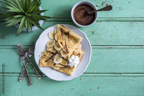 Crêpes Chocolat Banane pour la Chandeleur