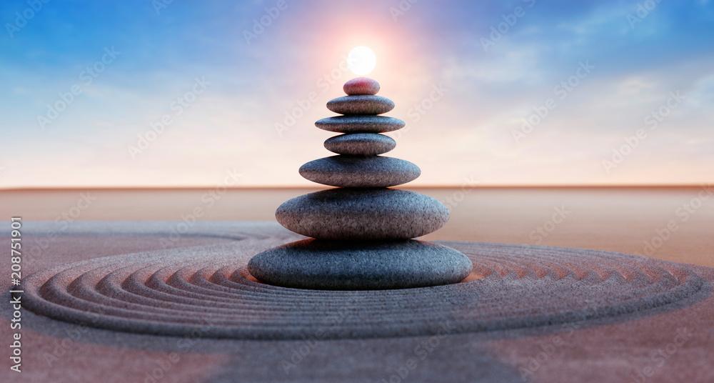 Fototapety, obrazy: Steinturm mit Sonne
