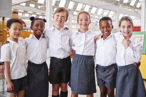 Fotografie, Obraz  Classmates posing for photo at a science centre