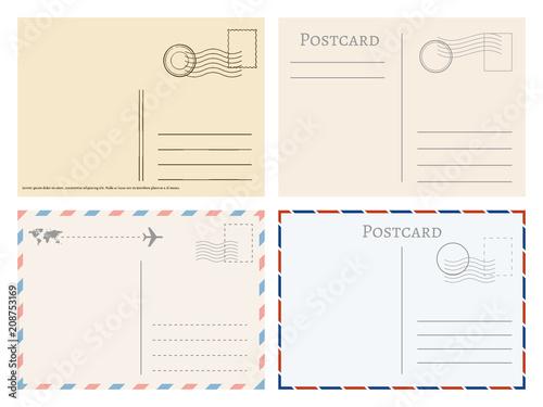 Fotografía Vintage paper postal cards