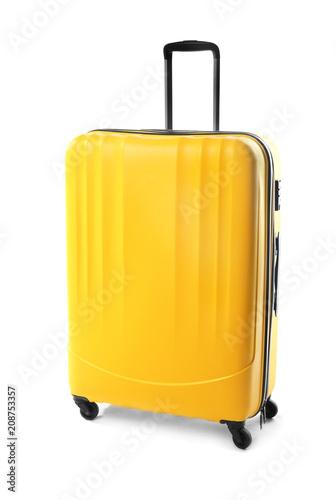 Obraz na płótnie Large suitcase on white background