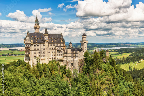 Naklejki do przedszkola  naklejka-na-wymiar-bavaria-germany-june-10-2018-neuschwanstein-castle-bavaria-germany-neuschwanstein-castle-in-the-bavarian-alps-of-germany-the-castle-was-commissioned-by-ludwig-ii-and-completed-in-1892