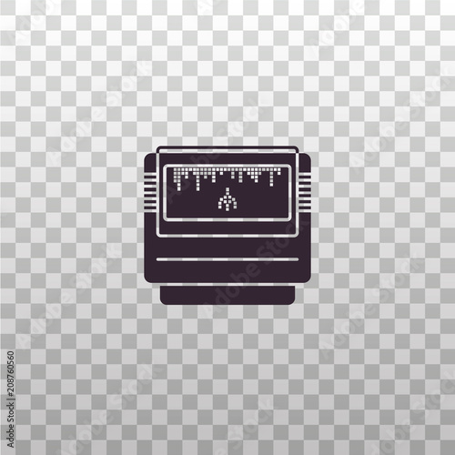 Game Cartridge Black Silhouette Icon On Isolated Transparent Background Gaming Rom Card For Videogame Consoles Vector Sign Symbol Element Pictogram Buy This Stock Vector And Explore Similar Vectors At Adobe