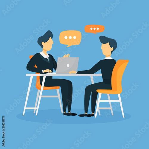 Obraz Business interview illustration. - fototapety do salonu