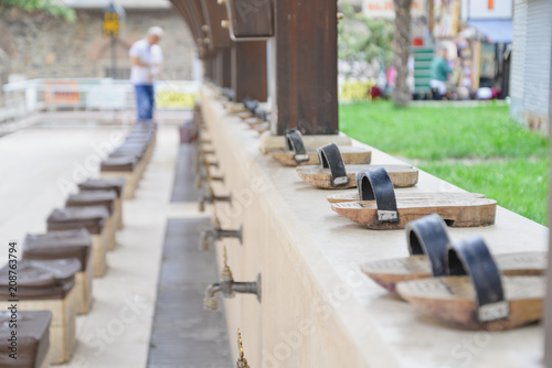 Fotografija  Taps for ablution before entering a mosque
