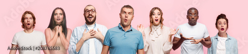 Fotografie, Tablou The collage of surprised people
