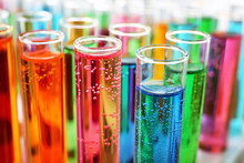 Many Test Tubes With Colorful ...