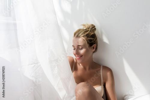 Fotografie, Obraz  Pretty Woman Posing in Lingerie