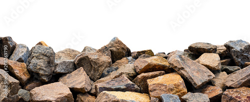 Fototapeta Big rock isolated on white. This has clipping path. obraz