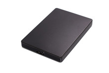 Black External Hard Drive Isol...