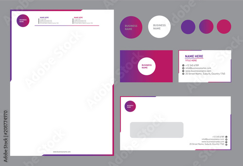Fototapeta Bright Colorful Corporate Brand Identity obraz