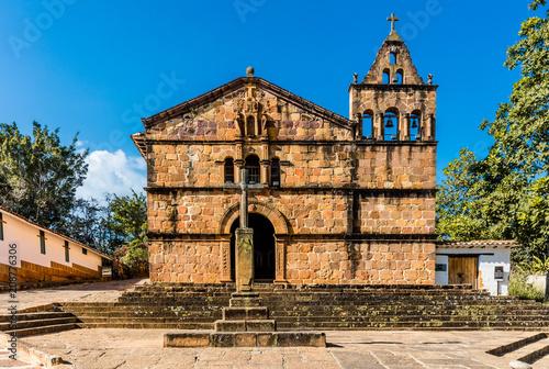 In de dag Centraal-Amerika Landen Capilla de Santa Barbara Barichara Santander in Colombia South America