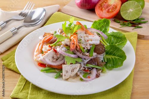 Fototapeta Mung Bean Noodle Spicy Salad obraz