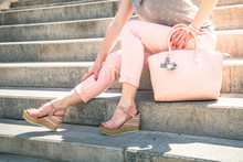 Stylish Woman Wearing In Pink ...