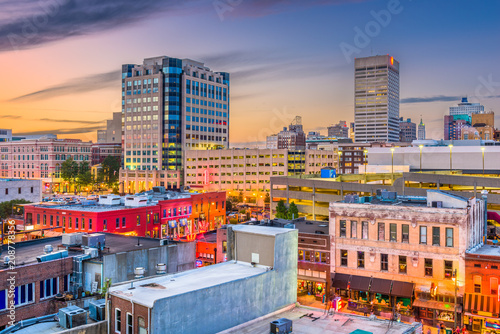 Memphis, Tennessee, USA Sky...
