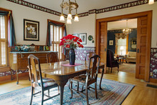 Victorian Dining Room With Pocket Doors