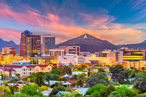 Tucson, Arizona, USA Skyline Wallpaper Mural