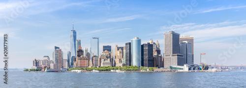 Poster New York City Panoramic view of Lower Manhattan, New York City, USA.