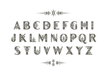 Vector Decorative Alphabet. Sa...