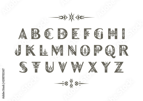 Vector decorative alphabet Fototapete