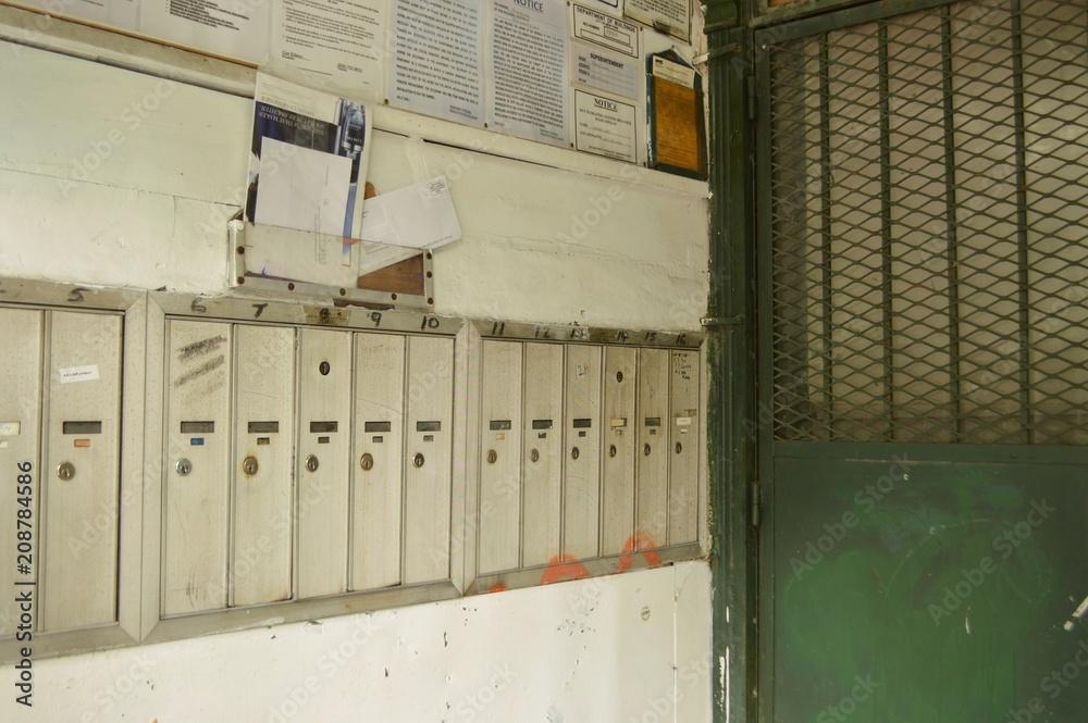 Photo & Art Print Tenement Apartment Door Entrance with Row ...