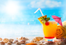 Summer Drink On The Beach